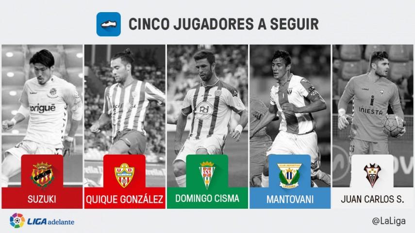 Cinco jugadores a seguir en la jornada 39 de la Liga Adelante
