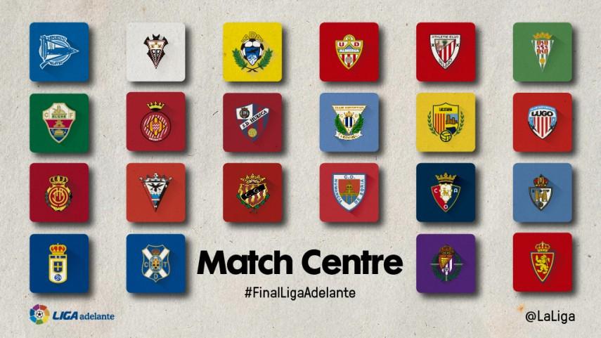 Disfruta de las últimas tres jornadas de Liga Adelante con el Match Centre de LaLiga
