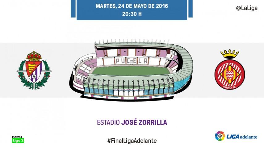 El Real Valladolid mide la ambición del Girona FC