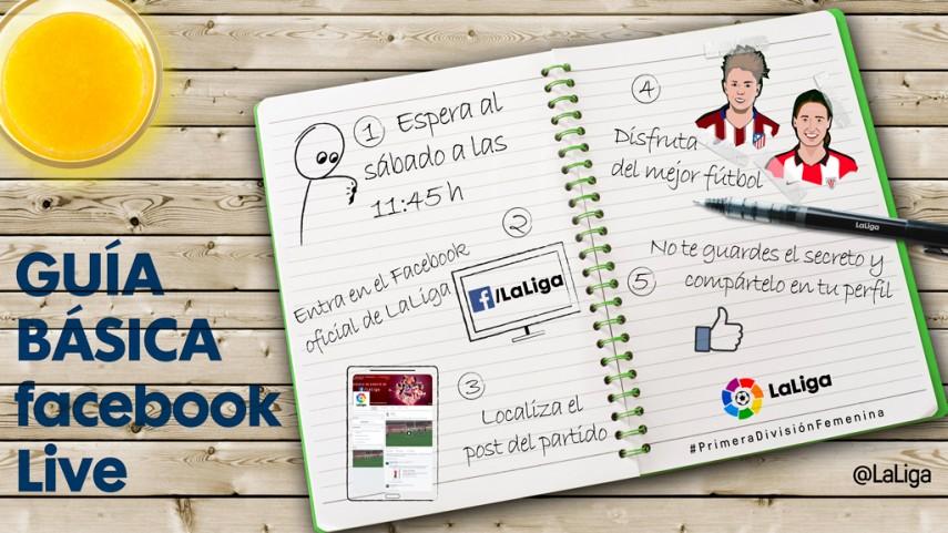 Guía básica para seguir el At. Madrid Féminas - Athletic por Facebook Live