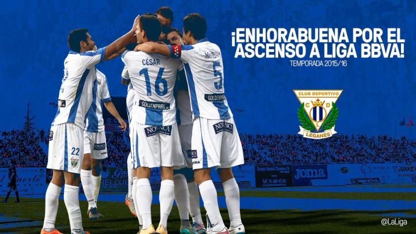 El CD Leganés firma un ascenso histórico a la Liga BBVA