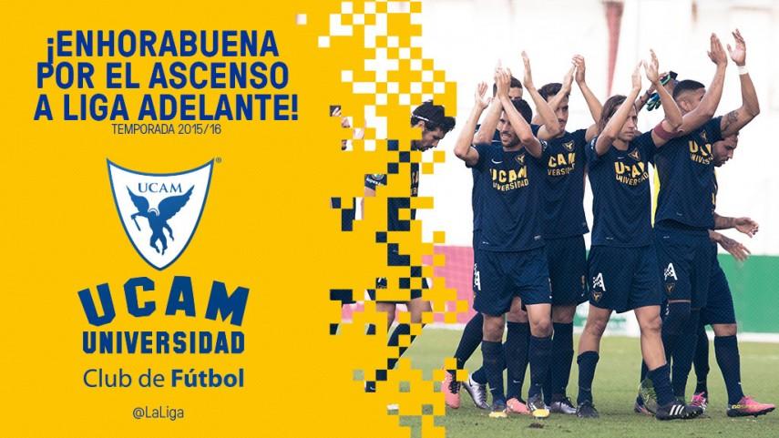 El UCAM Murcia ya es equipo de LaLiga2