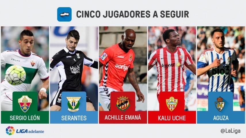 Cinco jugadores a seguir en la jornada 42 de la Liga Adelante
