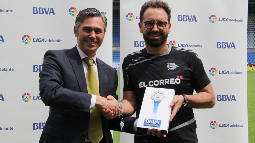José Bordalás, Mejor Entrenador de la Liga Adelante en Mayo