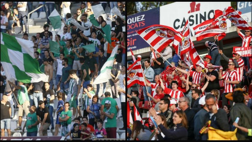 Las peñas de Córdoba CF y Girona FC, unidas por un mismo sueño