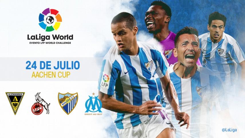 El Málaga CF se une a LaLiga World con su participación en la Aachen Cup