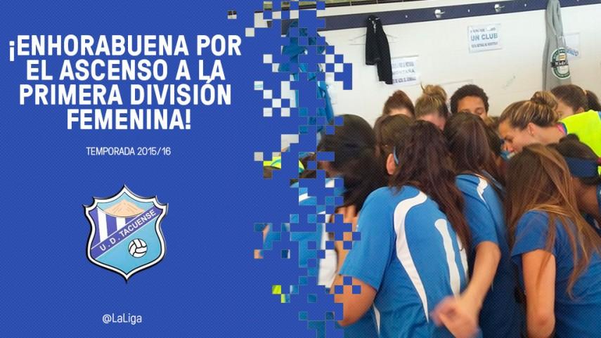 El UD Tacuense asciende a Primera División Femenina