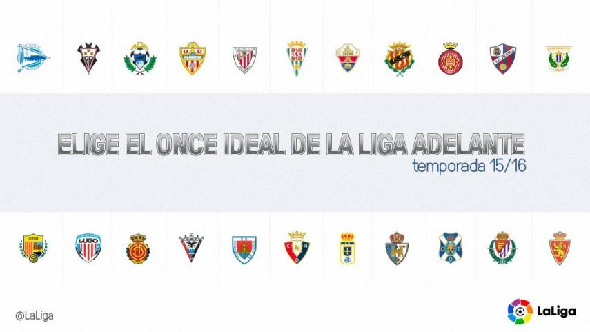 Tú eliges el 11 ideal de la temporada 2015/2016 de la Liga Adelante