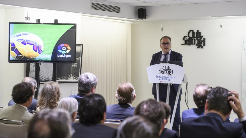 """Javier Tebas: """"Vamos a seguir con las prácticas de buena gobernanza y la internacionalización de LaLiga"""