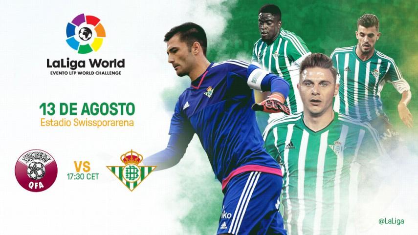 El Real Betis se suma a LaLiga World con un amistoso ante la selección de Qatar