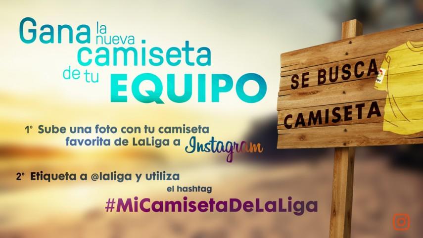 Gana la camiseta de tu equipo con el hashtag #MiCamisetaDeLaLiga en Instagram