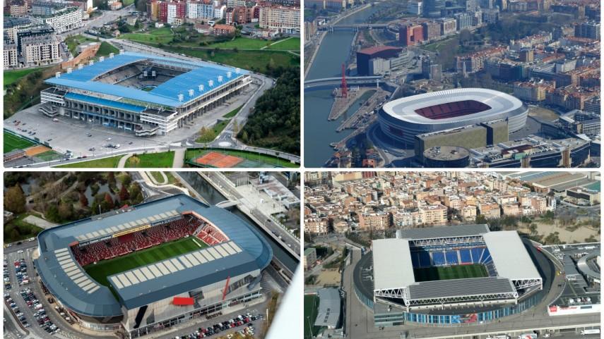 ¿Sabrías reconocer estos estadios de LaLiga desde el cielo?