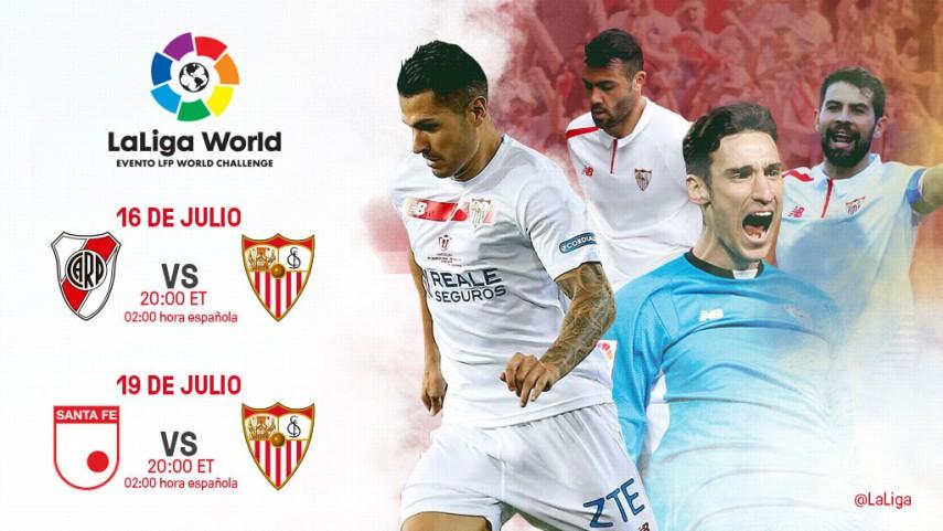 El Sevilla FC se une a LaLiga World con dos amistosos en Estados Unidos