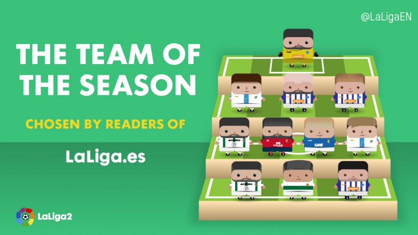 The LaLiga2 2015/2016 Team of the Season
