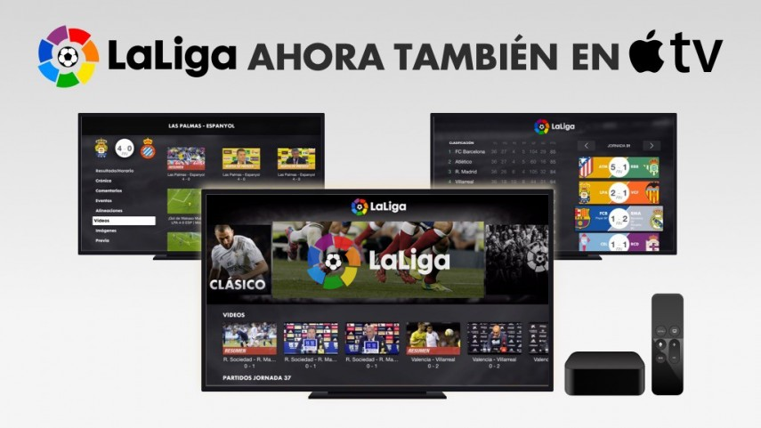 LaLiga lanza su app para Apple TV