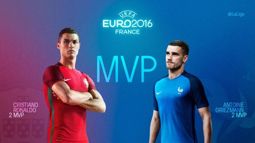 Cristiano Ronaldo - Griezmann, un duelo de 'MVPs' en la final de la UEFA EURO 2016