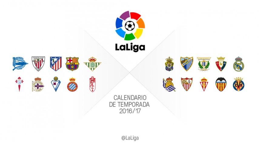Calendario completo de todos los equipos de LaLiga 2016/2017