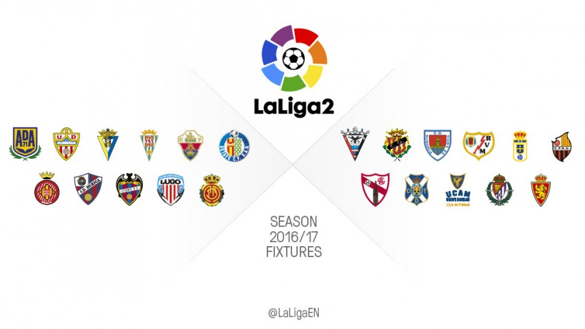 The complete 2016/17 fixture list for each LaLiga2 team
