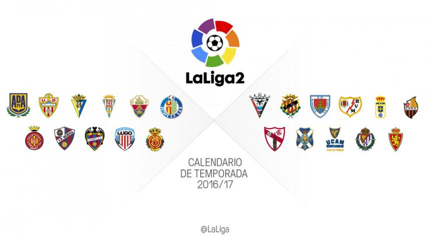 Calendario completo de todos los equipos de LaLiga2 2016/2017