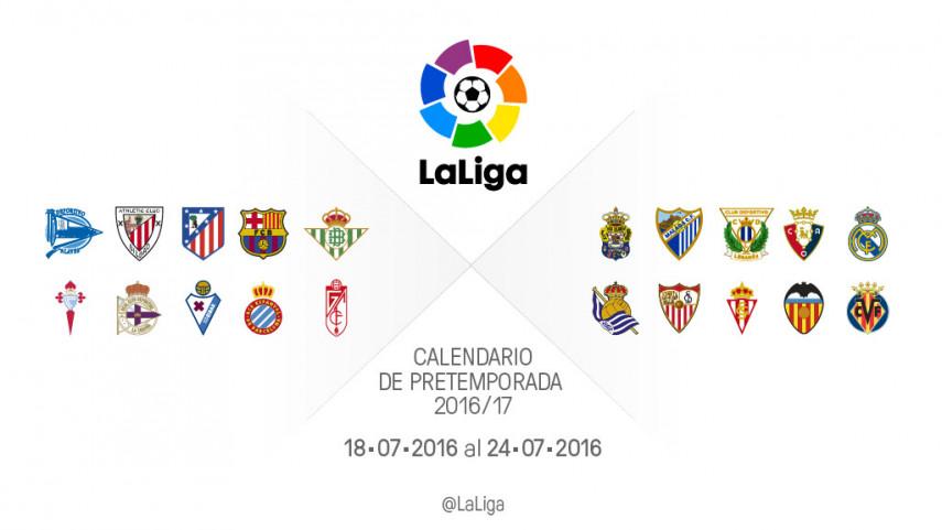 Calendario de partidos de pretemporada del 18 al 24 de julio
