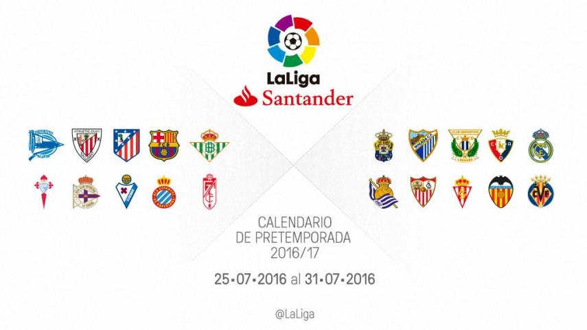 Calendario de partidos de pretemporada del 25 al 31 de julio