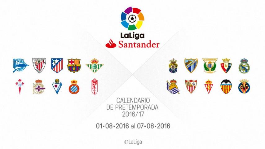 Calendario de partidos de pretemporada del 1 al 7 de agosto