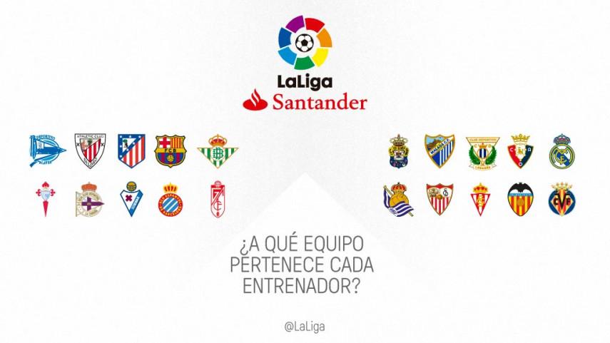 ¿A qué equipo pertenece de LaLiga pertenece cada entrenador?