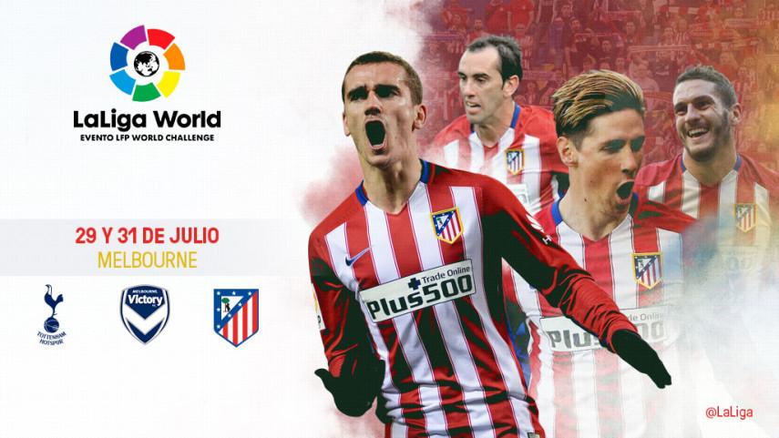 LaLiga World acompaña al Atlético a Australia en su pretemporada