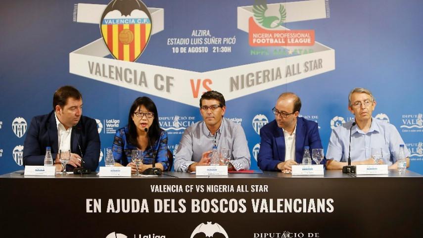 El Valencia presenta el partido contra el combinado de estrellas de Nigeria
