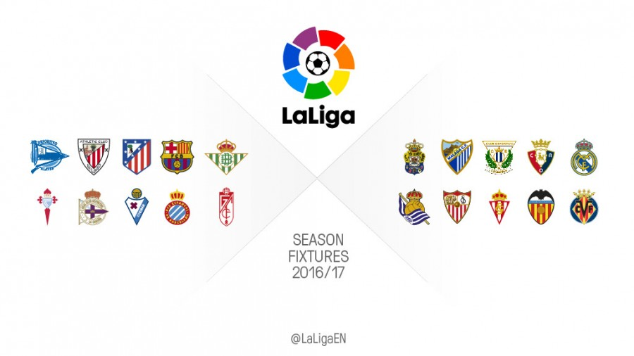 The complete 201617 fixture list for each laliga team news liga the complete 201617 fixture list for each laliga team stopboris Gallery