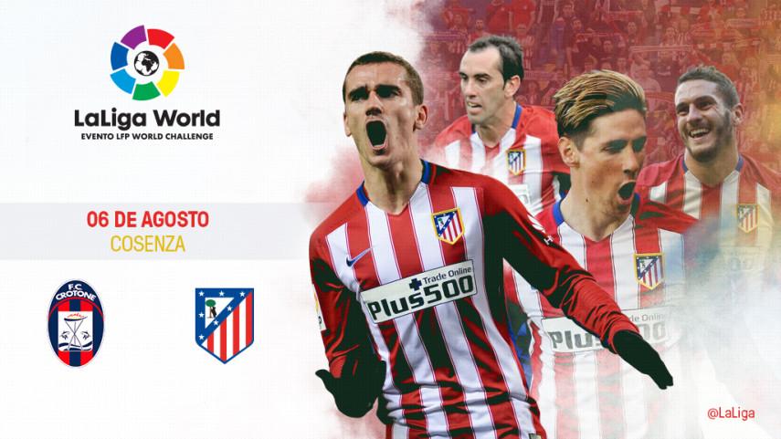 Italia, segunda parada del Atlético de Madrid en LaLiga World