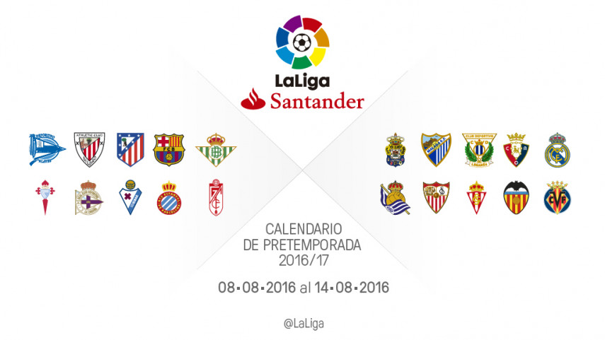 Calendario de partidos de pretemporada del 8 al 14 de agosto