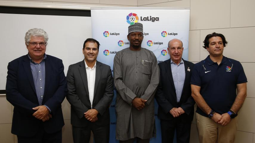 LaLiga comparte conocimientos con representantes de la liga de Nigeria