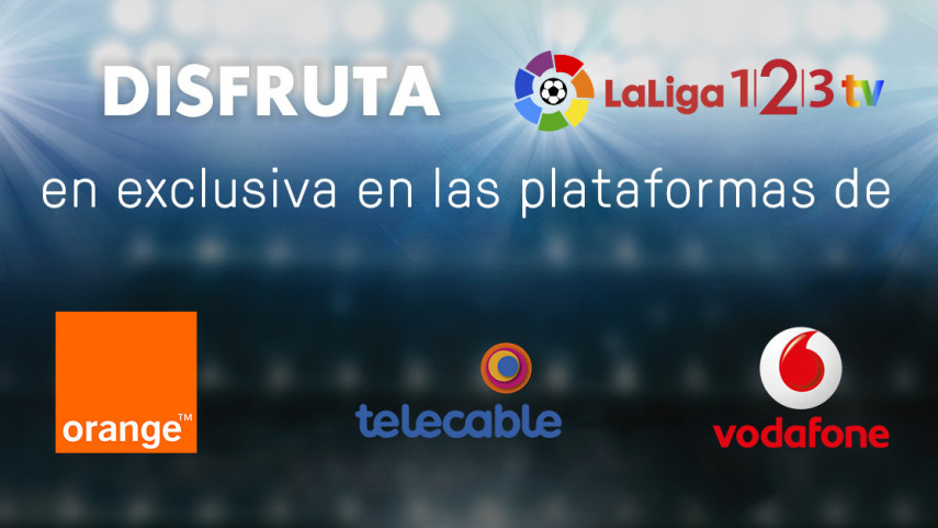 LaLiga 1l2l3 TV se verá en exclusiva a través de Orange, Telecable y Vodafone