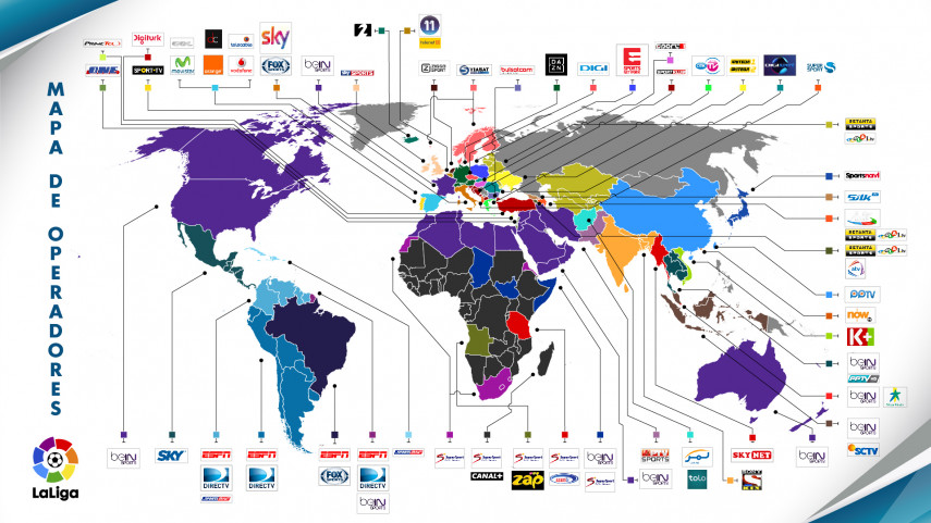 LaLiga llegará a más de 170 países