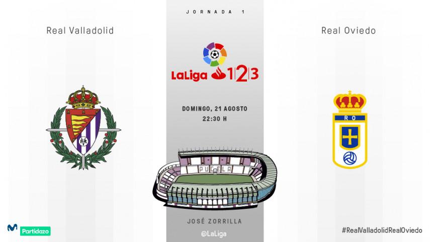 Valladolid y Oviedo estrenan LaLiga 1l2l3 en Zorrilla