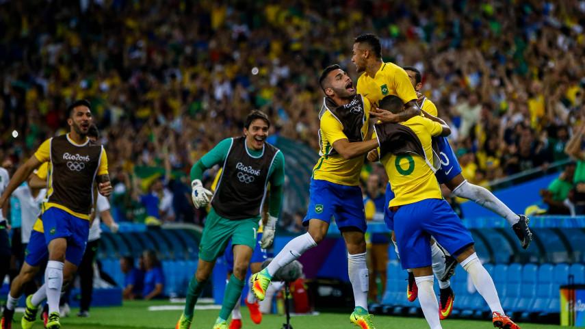 Neymar y Rafinha, medalla de oro en los Juegos Olímpicos