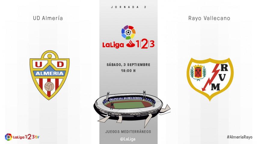 Almería y Rayo Vallecano quieren firmar su primer triunfo