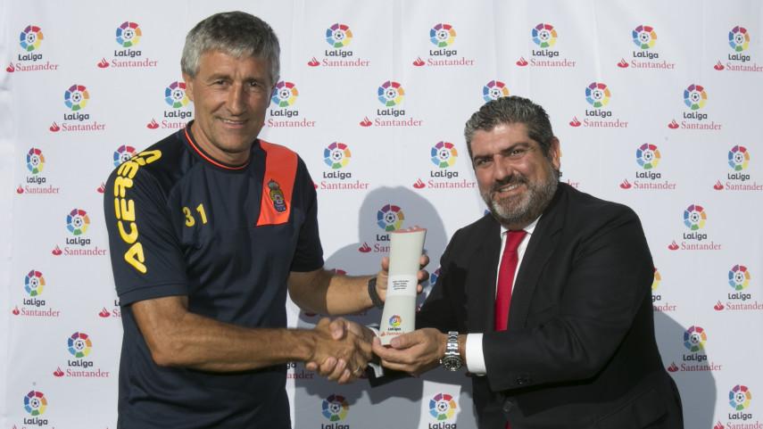 Quique Setien, LaLiga Santander's Coach of the Month for August