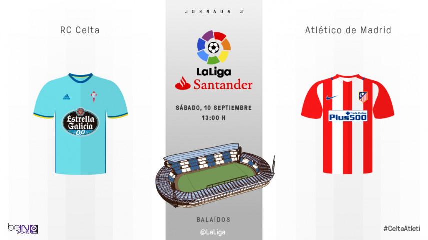 Celta y Atlético, a por la primera victoria del curso