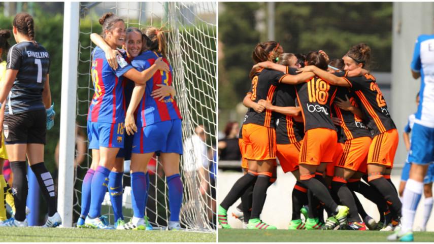 Barcelona y Valencia lideran la Liga Iberdrola