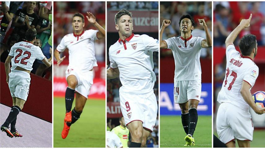 El Sevilla amortiza con goles sus fichajes