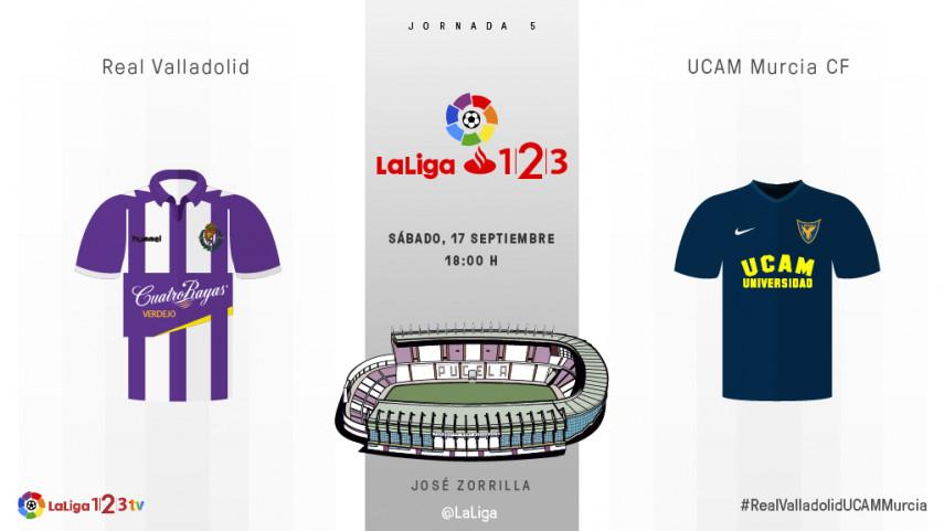 Zorrilla acoge un duelo inédito entre Valladolid y UCAM Murcia