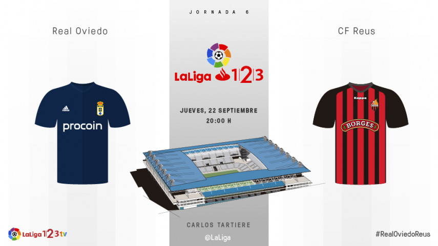 El Carlos Tartiere, testigo del primer Oviedo-Reus de la historia