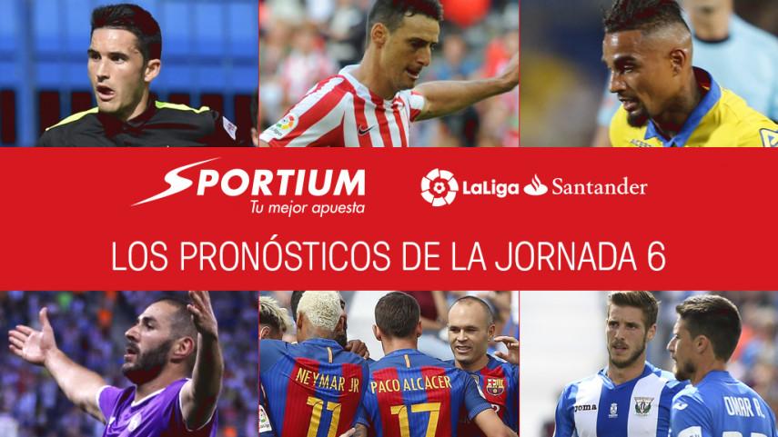 Las recomendaciones de Sportium para la jornada 6 de LaLiga Santander