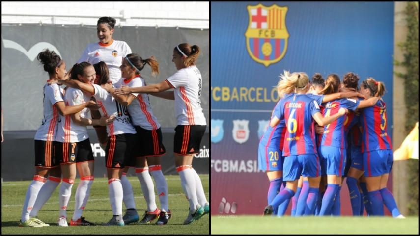 El FC Barcelona y el VCF Femenino comparten el liderato de la Liga Iberdrola