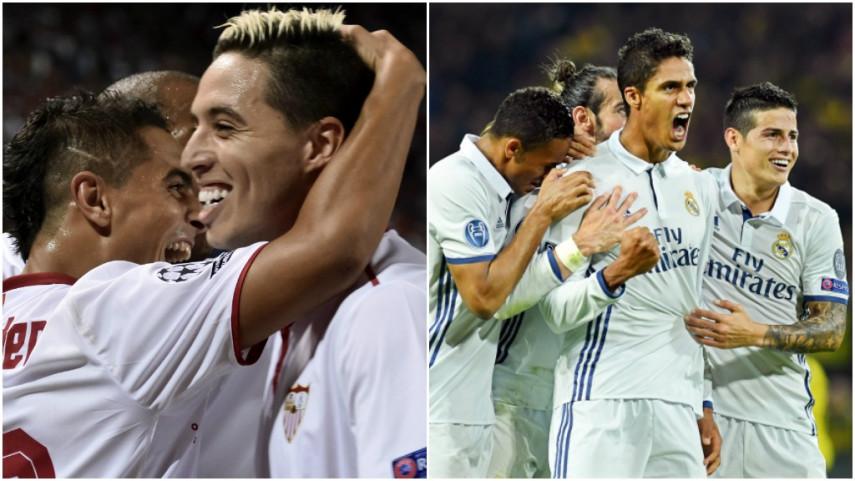El Sevilla supera al Lyon y el Real Madrid empata en casa del Dortmund
