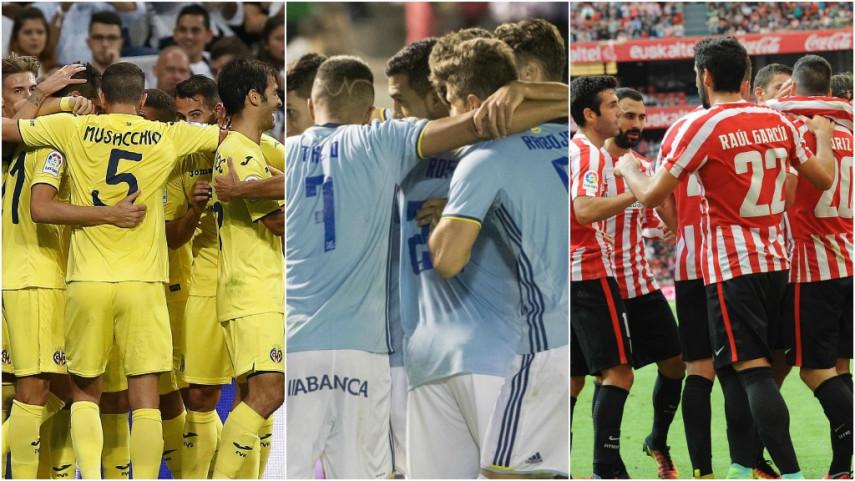 Villarreal, Celta y Athletic buscan mantener la línea en Europa