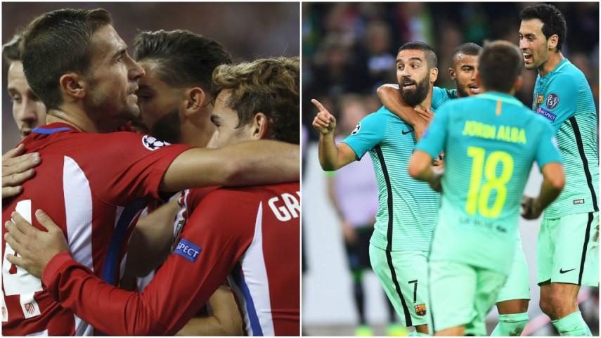 Atlético y Barcelona imponen su dominio en Europa