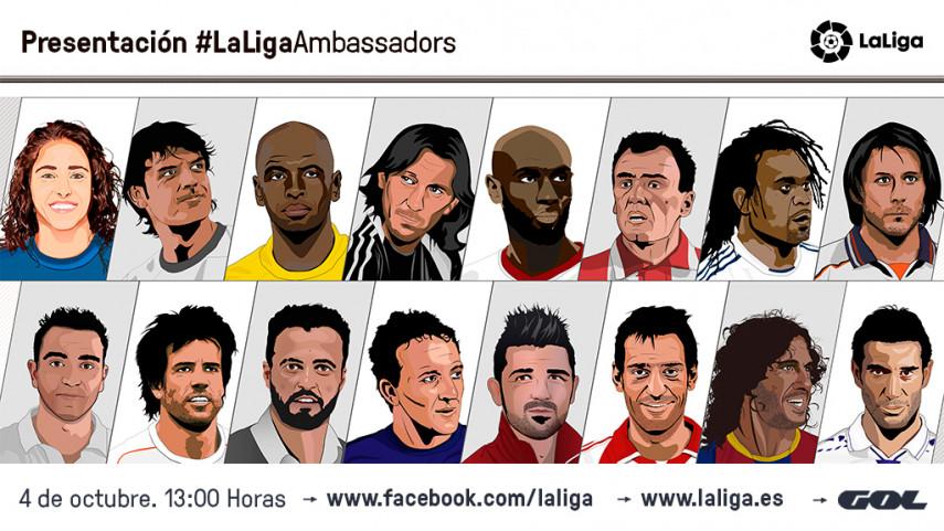 Xavi, Villa y Kiko se unen a la familia de #LaLigaAmbassadors